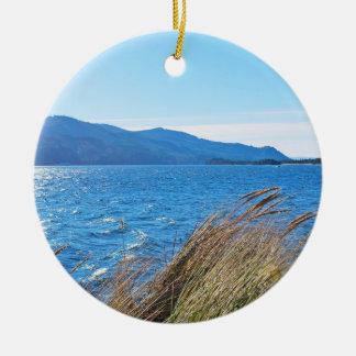 Nehalem Bay State Park - Bay Beach Ceramic Ornament