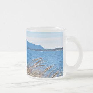 Nehalem Bay State Park - Bay Beach Frosted Glass Coffee Mug