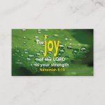 Nehemiah 8:10 JOY OF THE LORD Scripture Business Card