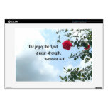 Nehemiah 8:10 The joy of the Lord... Decal For Laptop