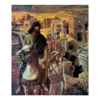 Nehemiah sees the rubble in Jerusalem by Tissot Poster