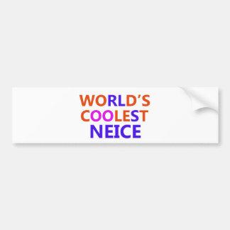 neice design car bumper sticker