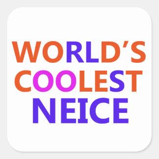 neice design square sticker