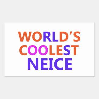 neice design rectangular sticker