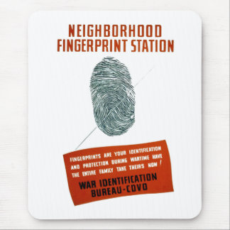 Neigborhood Fingerprint Station Mouse Pad