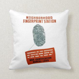 Neigborhood Fingerprint Station Pillow