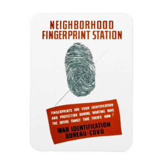 Neigborhood Fingerprint Station Rectangular Photo Magnet