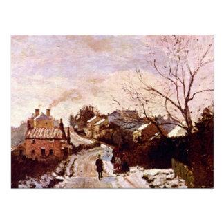 Neige a Lower Norwood by Camille Pissarro Postcard
