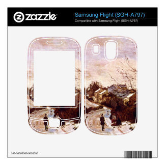 Neige a Lower Norwood by Camille Pissarro Samsung Flight Decal