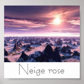 Neige rose poster