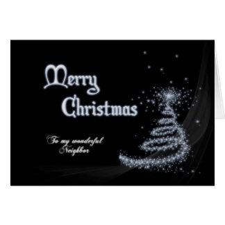 Neighbor, a Black and white Christmas card