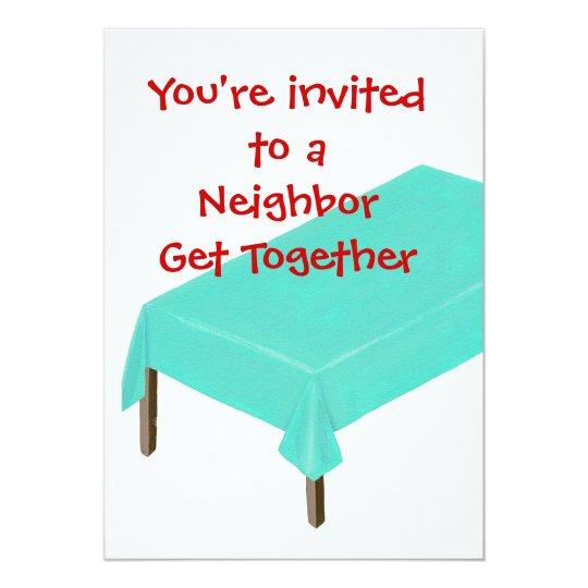 Neighbor Get Together Invitations Customize Invitation Zazzle Com