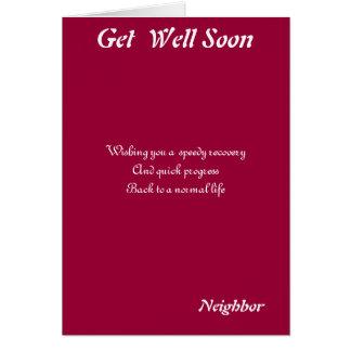 Neighbor get well soon cards