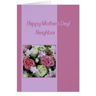 Neighbor  Happy Mother's Day rose card