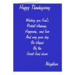 Neighbor thanksgiving cards