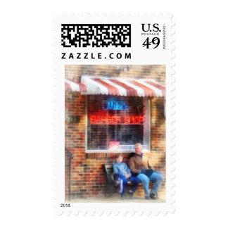 Neighborhood Barber Shop Postage