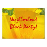 "Neighborhood Block Party! Invitations Annoucements 5"" X 7"" Invitation Card"