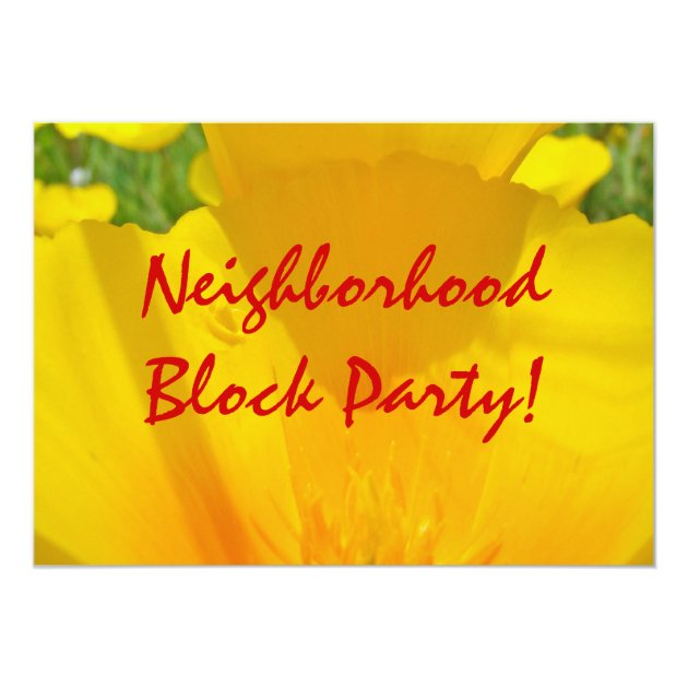 neighborhood block party  invitations annoucements