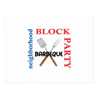 NEIGHBORHOOD BLOCK PARTY POSTCARD