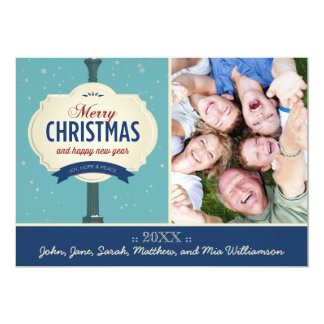 Neighborhood Cheer Family Holiday Card (navy)