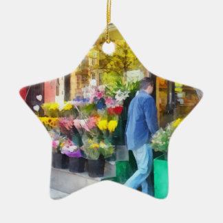 Neighborhood Flower Shop Ceramic Ornament