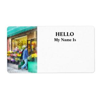 Neighborhood Flower Shop Label