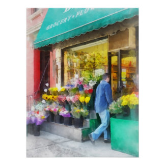 Neighborhood Flower Shop Poster