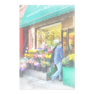 Neighborhood Flower Shop Personalized Stationery