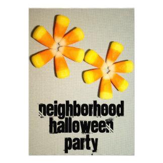 Neighborhood Halloween Party Invitations Harvest