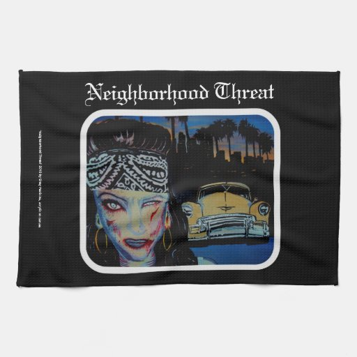'Neighborhood Threat' Zombie American MoJo Kitchen Towels