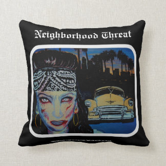 'Neighborhood Threat' Zombie (Throw) American MoJo Pillow
