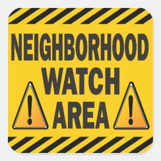 Neighborhood Watch Area Square Sticker