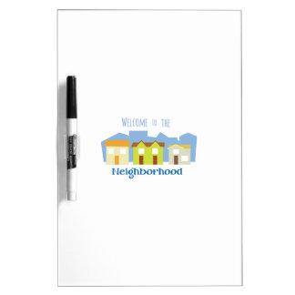 Neighborhood Welcome Dry-Erase Boards
