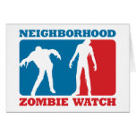 Neighborhood Zombie Watch - Red and Blue Card