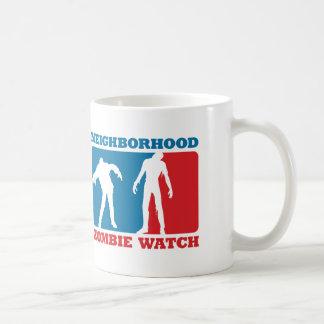 Neighborhood Zombie Watch - Red and Blue Coffee Mug