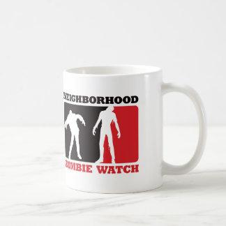 Neighborhood Zombie Watch - Red Classic White Coffee Mug