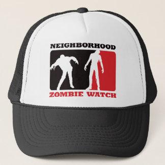 Neighborhood Zombie Watch - Red Trucker Hat