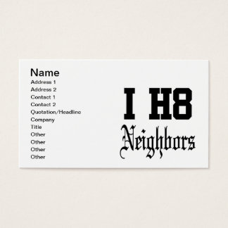 neighbors business card