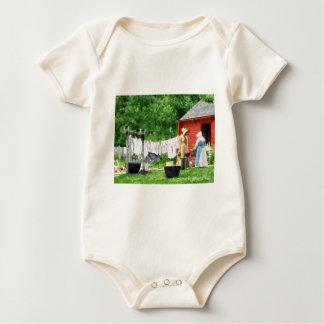 Neighbors Gossiping on Washday Baby Bodysuit