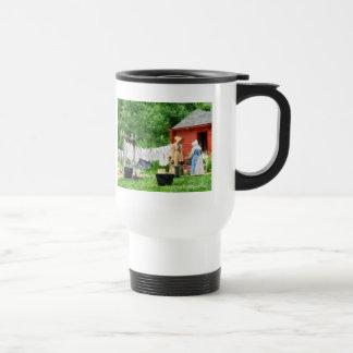 Neighbors Gossiping on Washday Mug