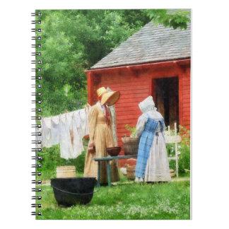 Neighbors Gossiping on Washday Journal