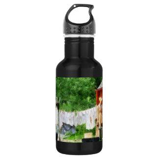 Neighbors Gossiping on Washday 18oz Water Bottle