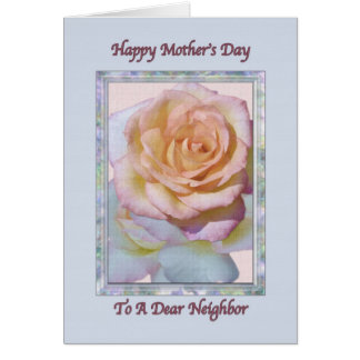 Neighbor's Mother's Day Card with Peace Rose