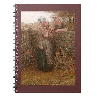Neighbors Visiting Over the Fence Notebook