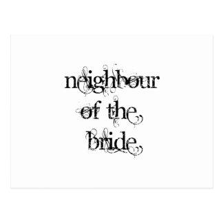 Neighbour of the Bride Postcard