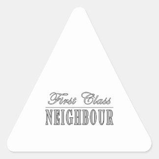 Neighbours First Class Neighbour Triangle Sticker