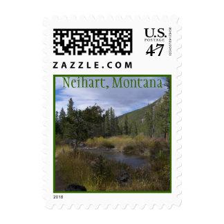 Neihart post card postage