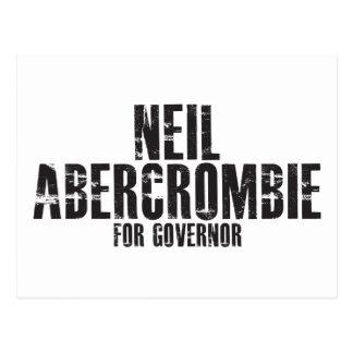 Neil Abercrombie para el gobernador 2010 Postal