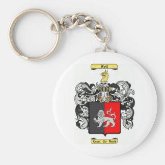 Neil Basic Round Button Keychain