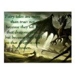 Neil Gaiman Quote on Fairytales Wens Kaarten